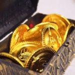 金貨が入った宝箱